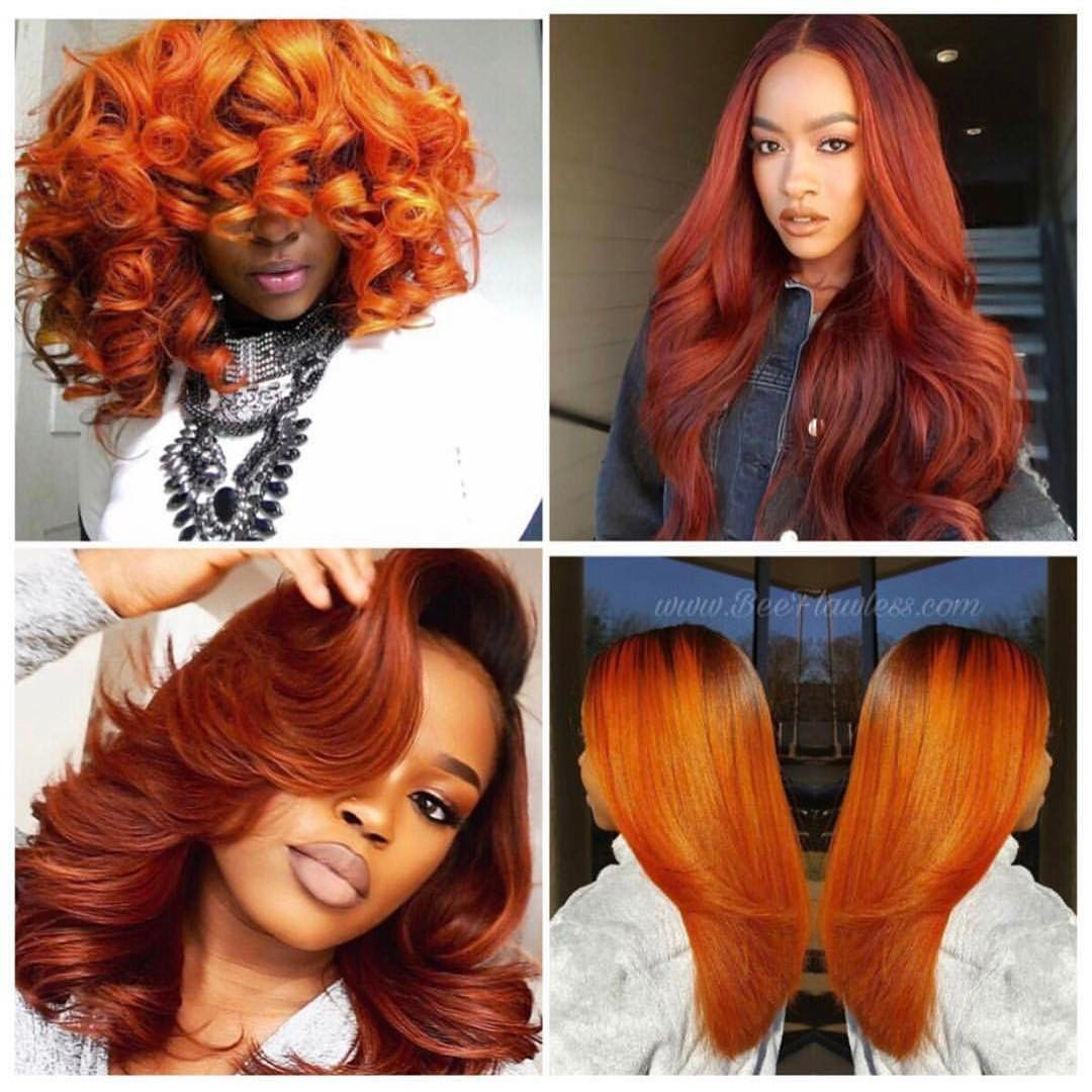 Burnt Orange Hair Color Looks Amazing On Brown Skin Hair