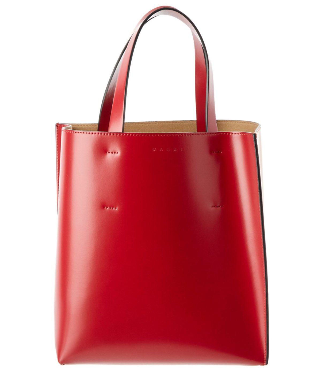 4aea44c6e729 MARNI Marni Museo Bi-Color Leather Shopping Tote .  marni  bags  leather   hand bags  tote  lining
