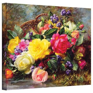 Albert Williams 'Roses from a Victorian Garden' Gallery-Wrapped Canvas Art | Overstock.com Shopping - The Best Deals on Gallery Wrapped Canvas