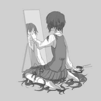 He loved her with long hair ,so she cut it short. manga