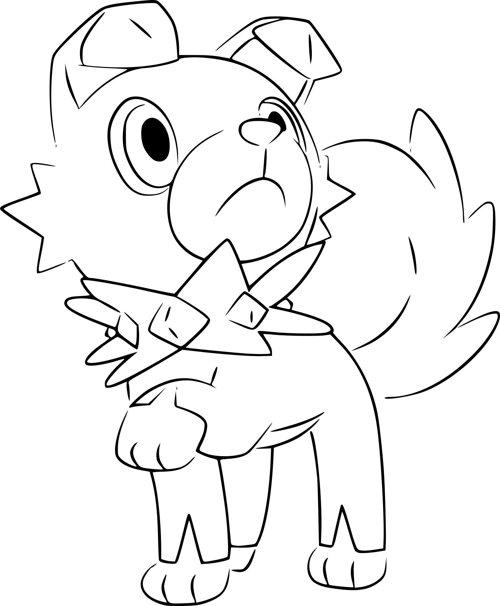 rockruff coloring pages through the thousand