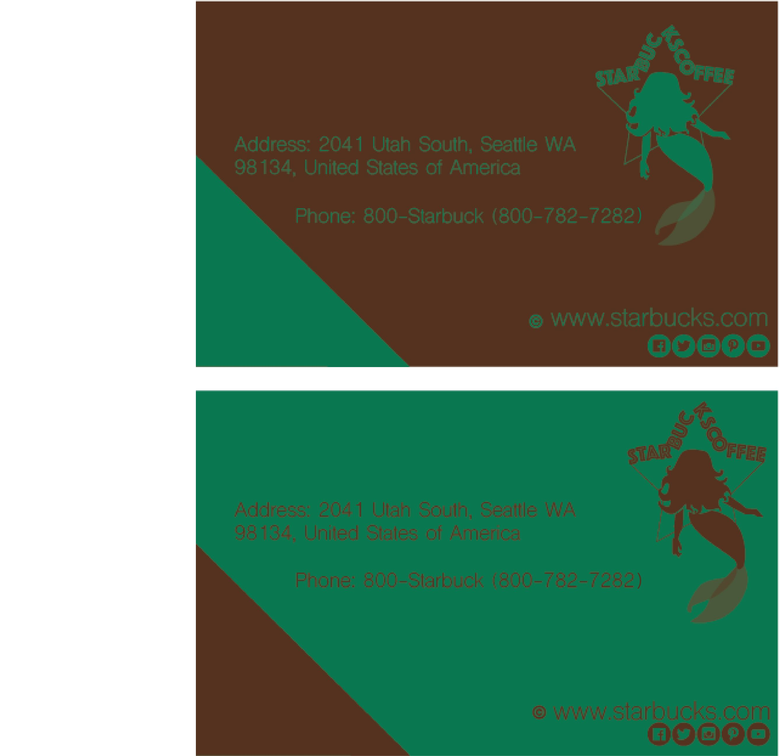 Starbucks Business Card Gallery - Free Business Cards