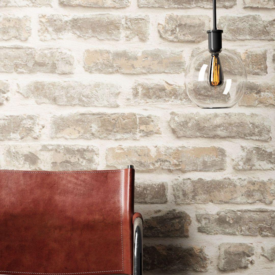 Industrial Flair Für Zu Hause Vliestapete In Ziegelstein Optik Wandgestaltung Tapete Wohnen Home Wo Tapete Steinoptik Vliestapete Steinoptik Steintapete