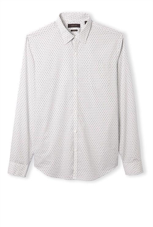 Slim Geometric Print Shirt - Country Road