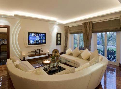 Marvelous Achieving Ideal Living Room Theater With Correct Seating Design Ideas