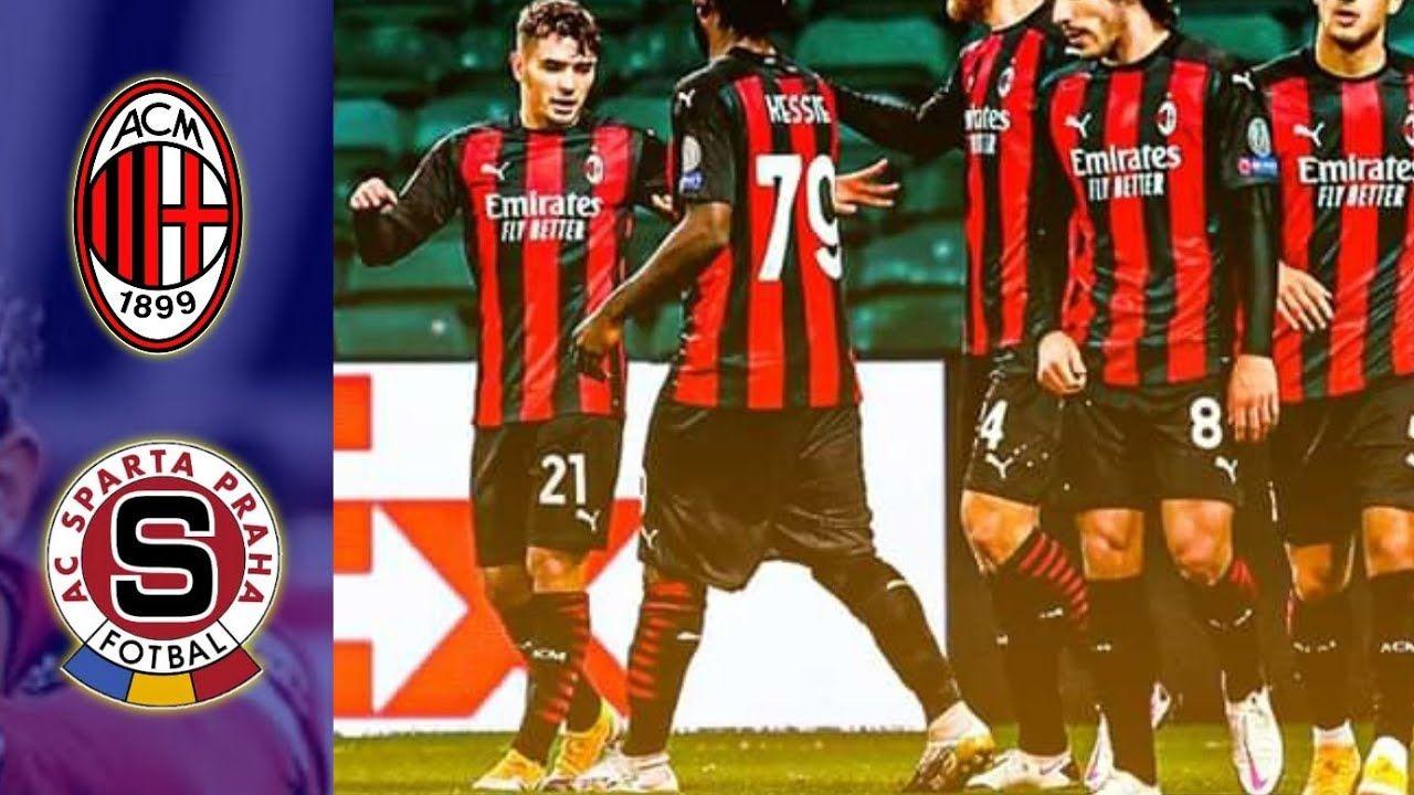 Ac Milan Vs Sparta Praha 3 0 Match Highlights Match Highlights Ac Milan Football Gif