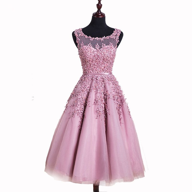 Short Fitted Prom Dresses Appliqued Tulle Imported Party | Fashion ...