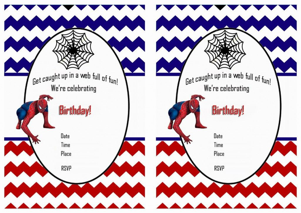 Spiderman Birthday Invitations – Birthday Printable | Birthday ...