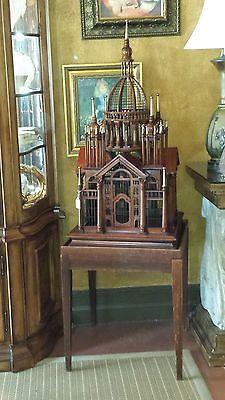 Exotic Rare Wood Victorian Birdcage
