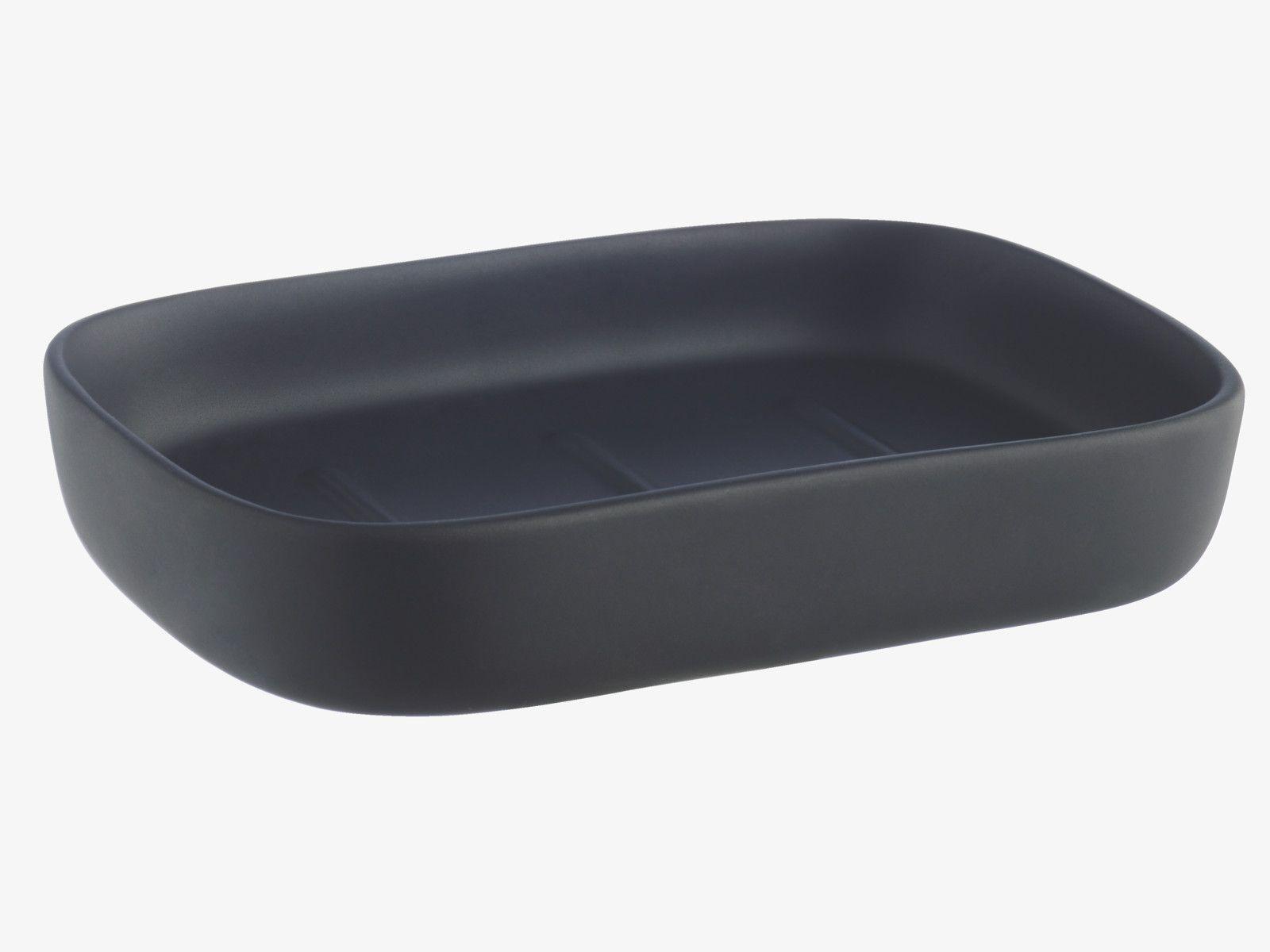 Nomo Blacks Stone Black Dolomite Soap Dish Habitatuk