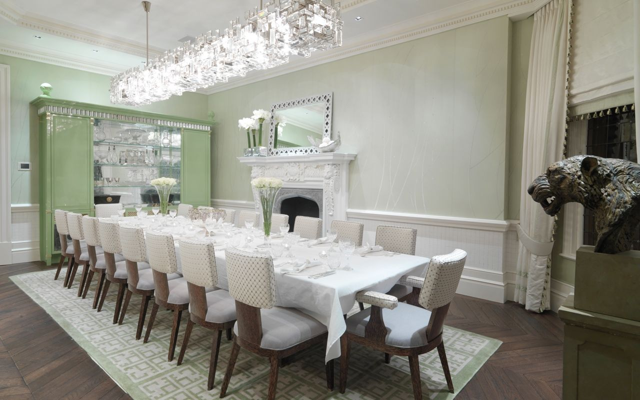 Private residential family home london david collins for Residential interior designers london