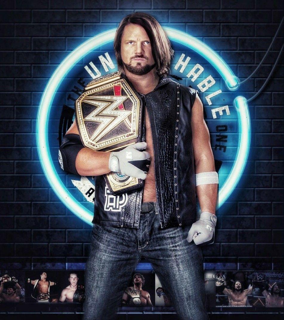 204e3c8960ca4 AJ Style New WWE Champion