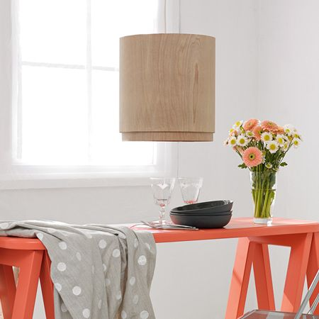 Create your own veneer lampshade using an existing wire frame, or ...