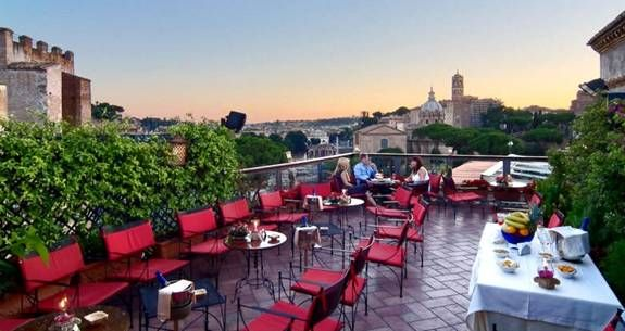 Rooftop Bar And Restaurants In Rome Hotel Forum Rome Best Rooftop Bars Rome