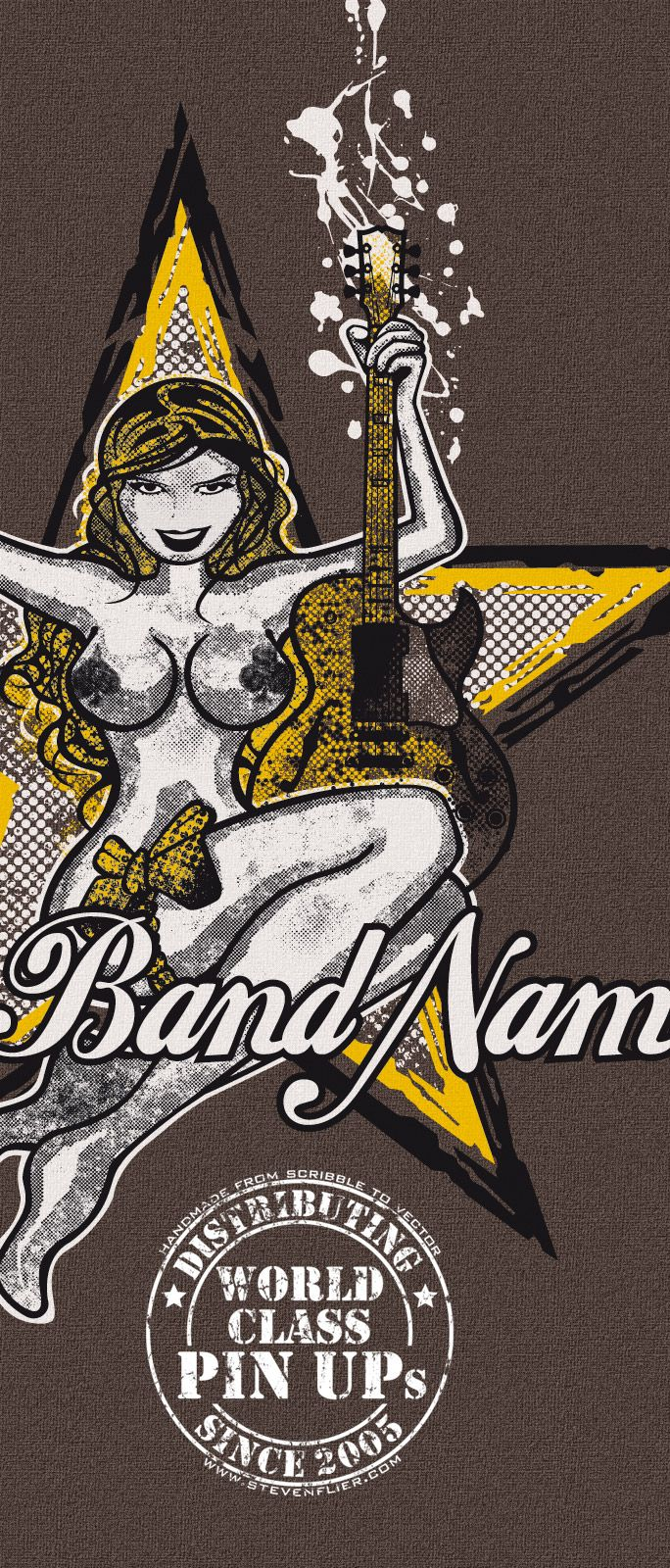 Band PinUp & Logo - Interested? Gimme a call.