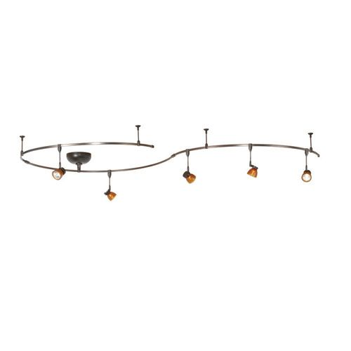 Solorail Dark Bronze Directional Spot Track Complete Kit With Amber Shade Wac Lighting Mon Track Lighting Monorail Lighting Track Lighting Fixtures