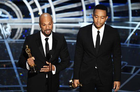 Most relevant speech at Oscars for song Selma It's John Legend and Common. A stirring performance.