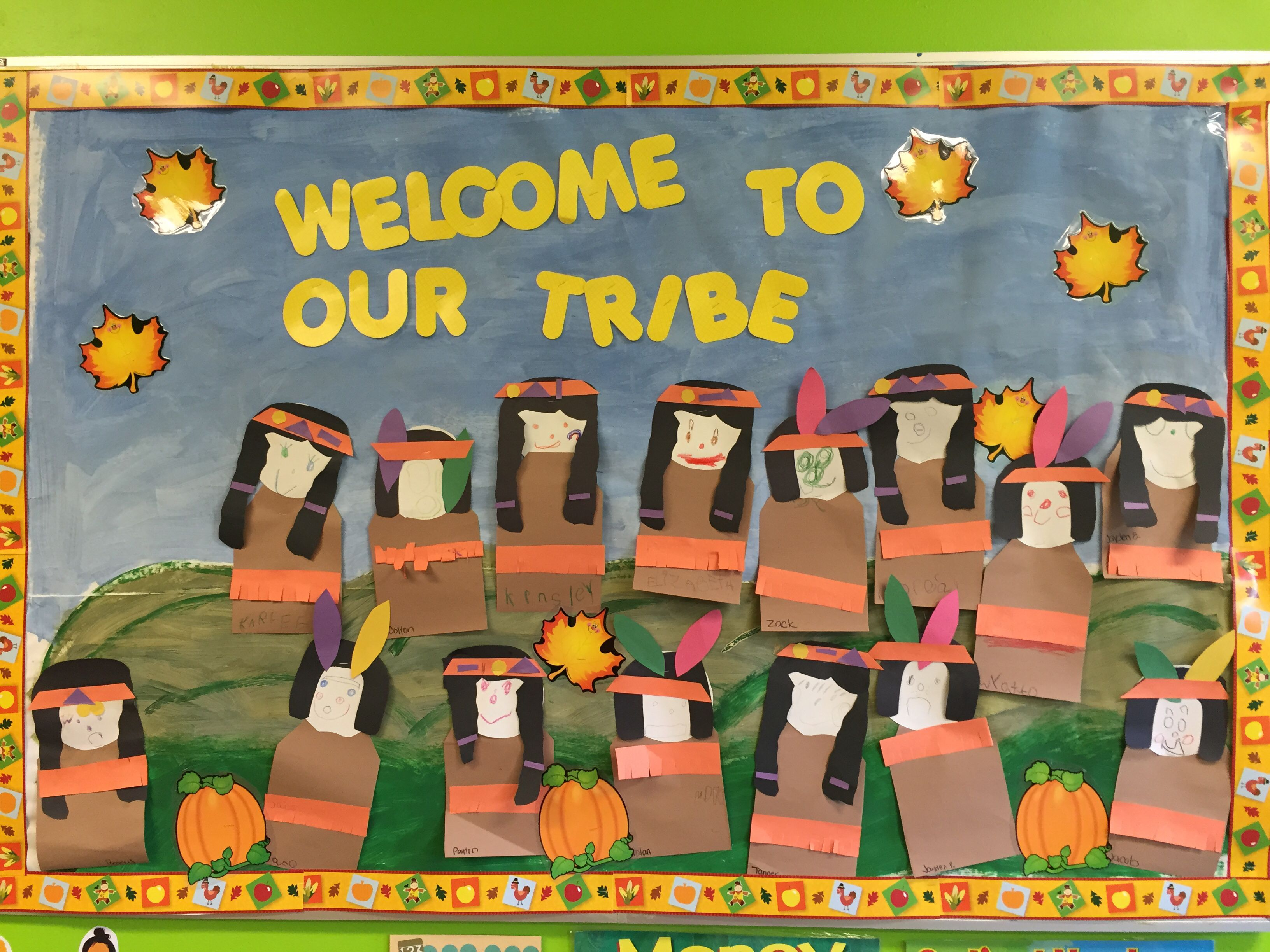 Indian Thanks Giving Bulletin Board Welcome To Our Tribe