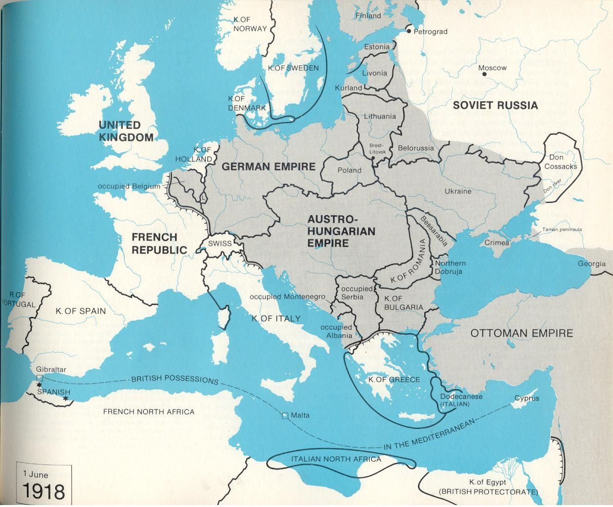 a map of Europe under the treaty of brest litovsk Alternate