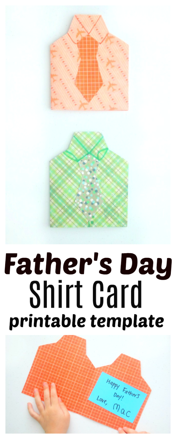 Father S Day Shirt Card Free Template Video Creative Holiday Gifts Handmade Wrapping Paper Fathers Day Shirts