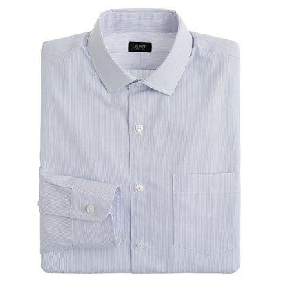 Classic spread-collar shirt in stripe   J.Crew
