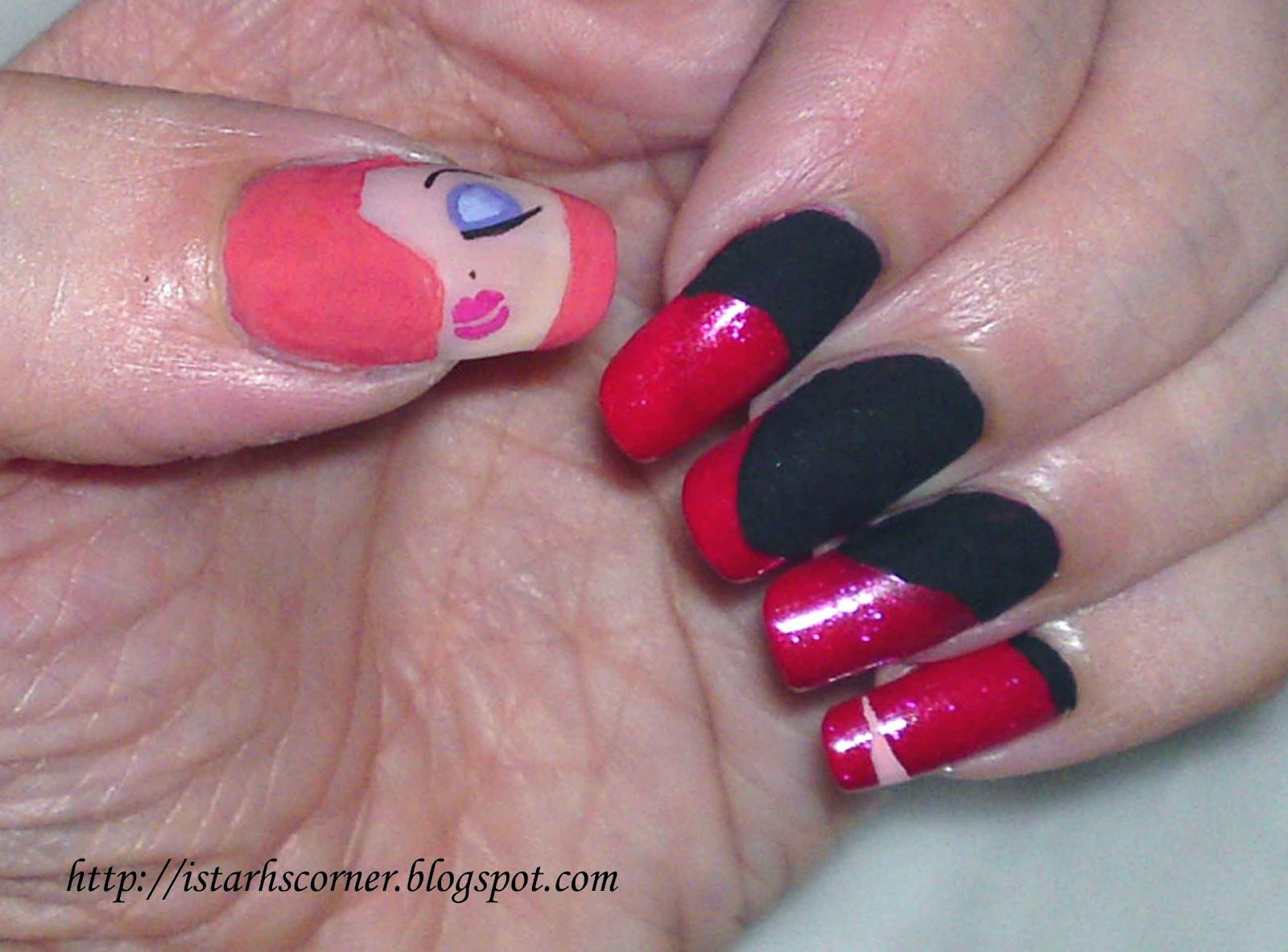 Jessica Rabbit Nails | Nail art | Pinterest | Jessica rabbit, Disney ...