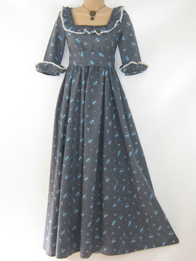 3b91f1b8d683 LAURA ASHLEY VINTAGE 70's REGENCY STYLE COTTAGE FLORAL EMPIRE DRESS, 6/8/10  #LAURAASHLEY #REGENCYBOHOPRAIRIEFESTIVALDRESS #Casual