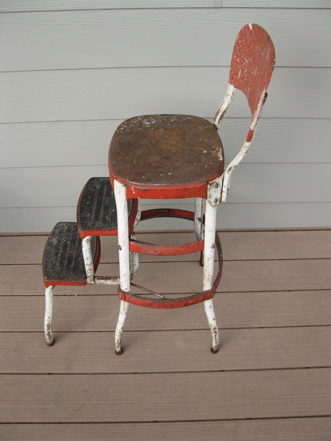 Awe Inspiring Metal Cosco Stool Cosco Chair Childs Stool Step Stool Squirreltailoven Fun Painted Chair Ideas Images Squirreltailovenorg