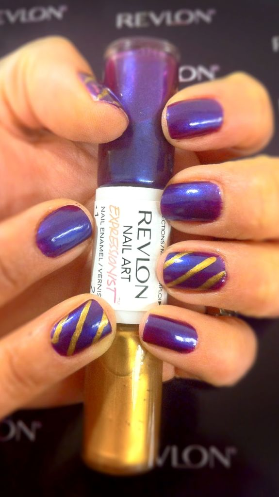 On Trend Stripes Revlon Nail Art Expressionist In Vincent Van Gold