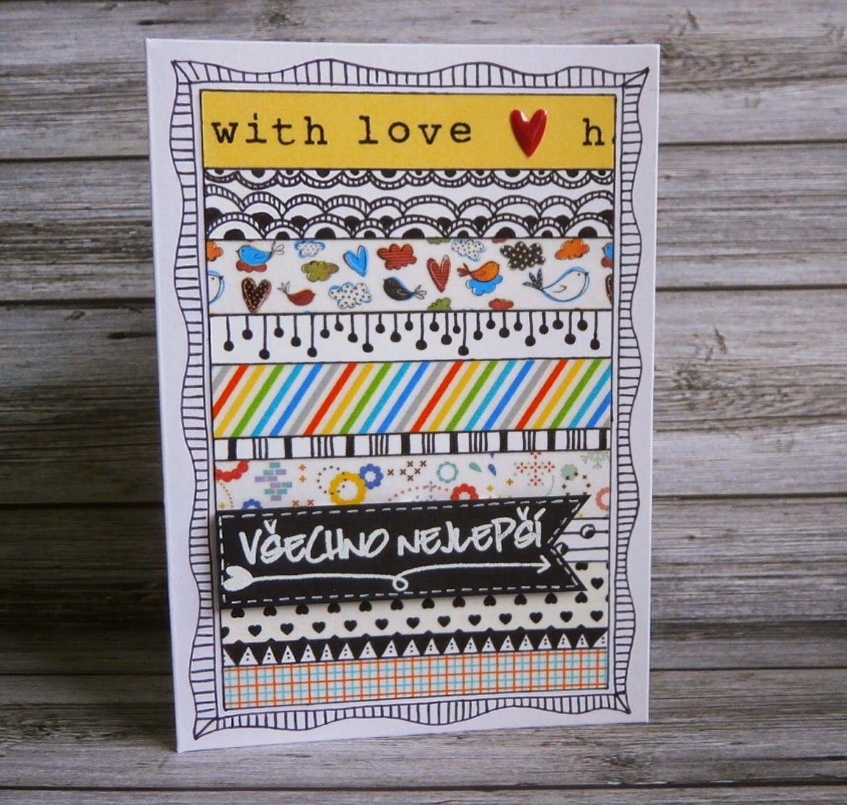 Můj papírový relax: DIY doodling a washi pásky
