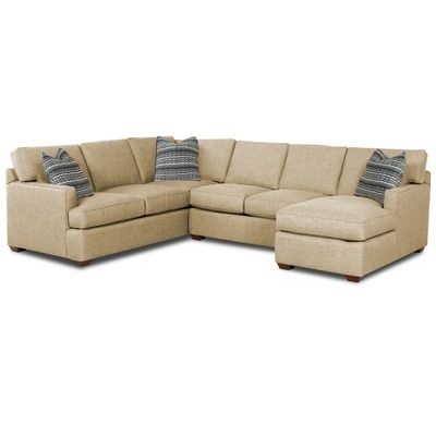 Klaussner Furniture Loomis 3 Piece Sectional