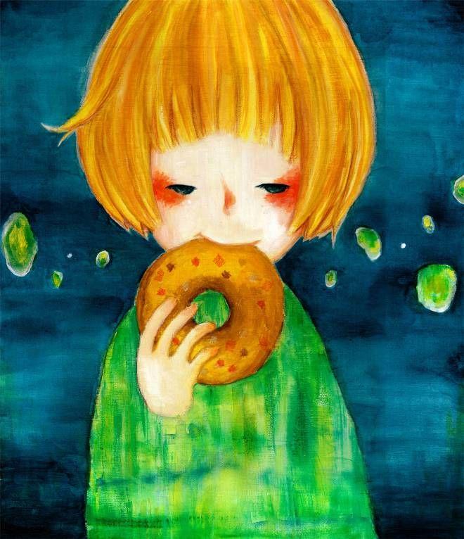 """寝ぐせとドーナツと夢の続き """"Bed Hair and Donuts, the Continuation of a Dream"""""""