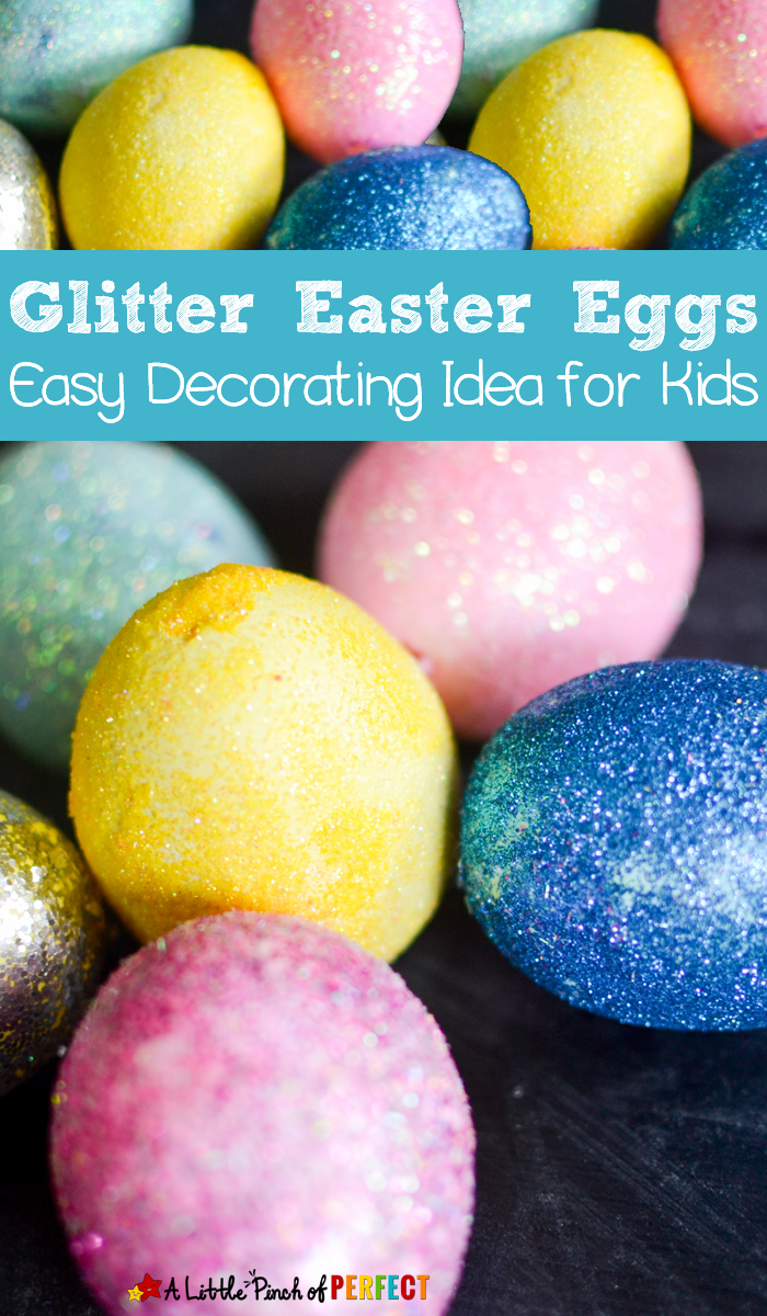 Glitter those easter eggs easy decorating idea for kids for What to put in easter eggs for adults