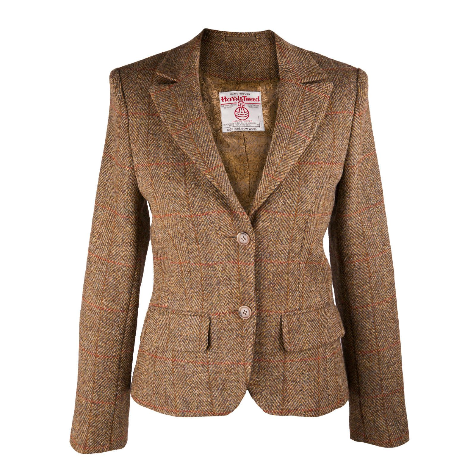 HARRIS TWEED Ladies Tammy Jacket 100% Pure New Wool Handwoven ...