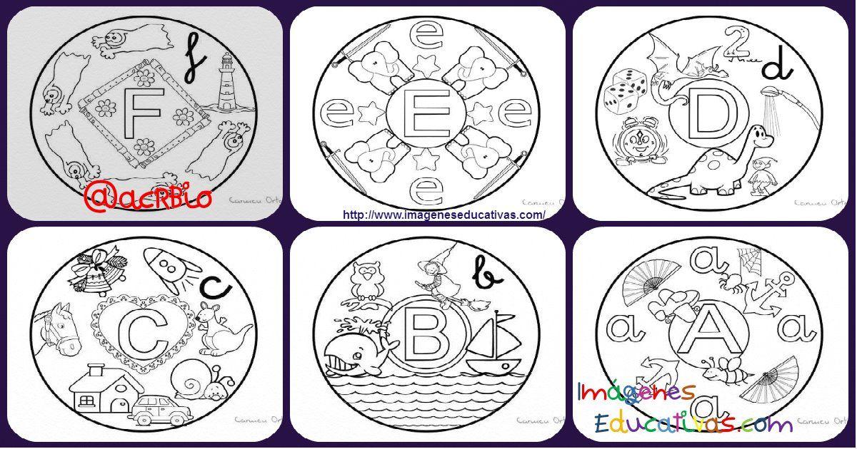 Imagenes Educativas Para Descargar: Abecedario De Mandalas Para Colorear. Listo Para Descargar