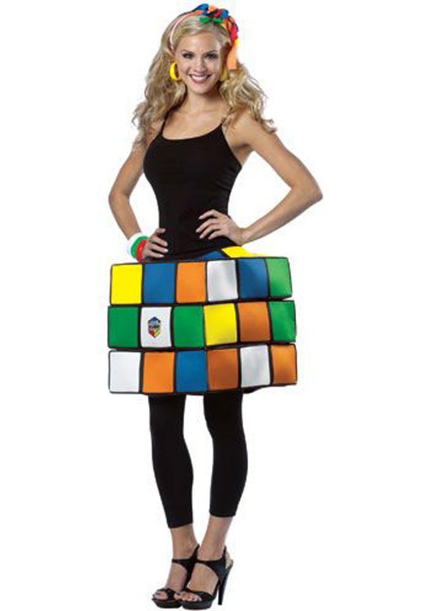 Rubiks Cube Ladies Costume - 80s Fancy dress at Escapade™ UK - Escapade Fancy Dress on Twitter @Escapade_UK  sc 1 st  Pinterest & Rubiks Cube Ladies Costume - 80s Fancy dress at Escapade™ UK ...