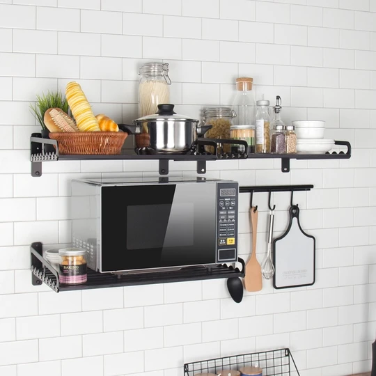 Matte Black Microwave & Oven Racks – Bell-Vee