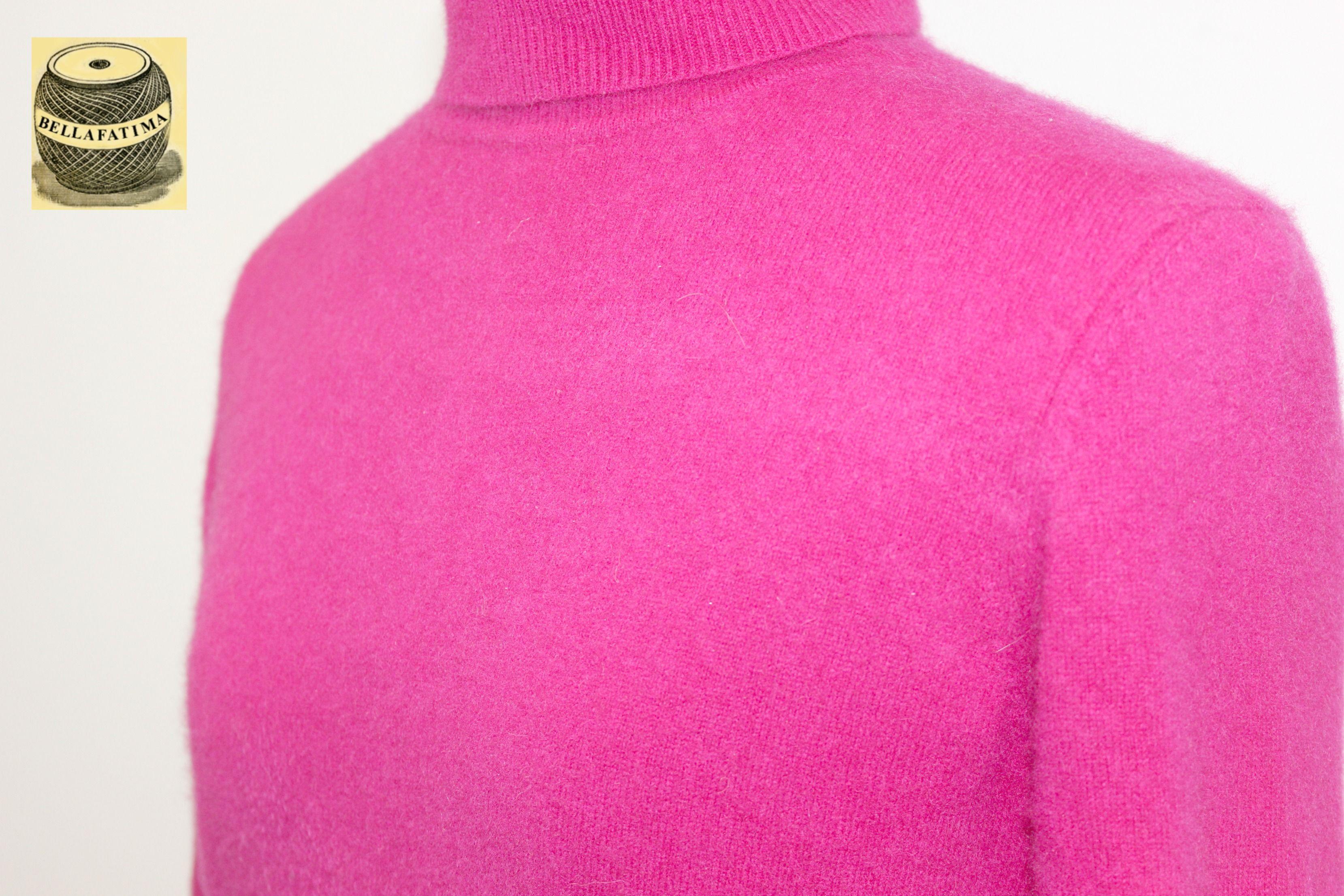 Hot Pink Cashmere Turtleneck by Valerie Stevens. $24.99 pict 2 ...