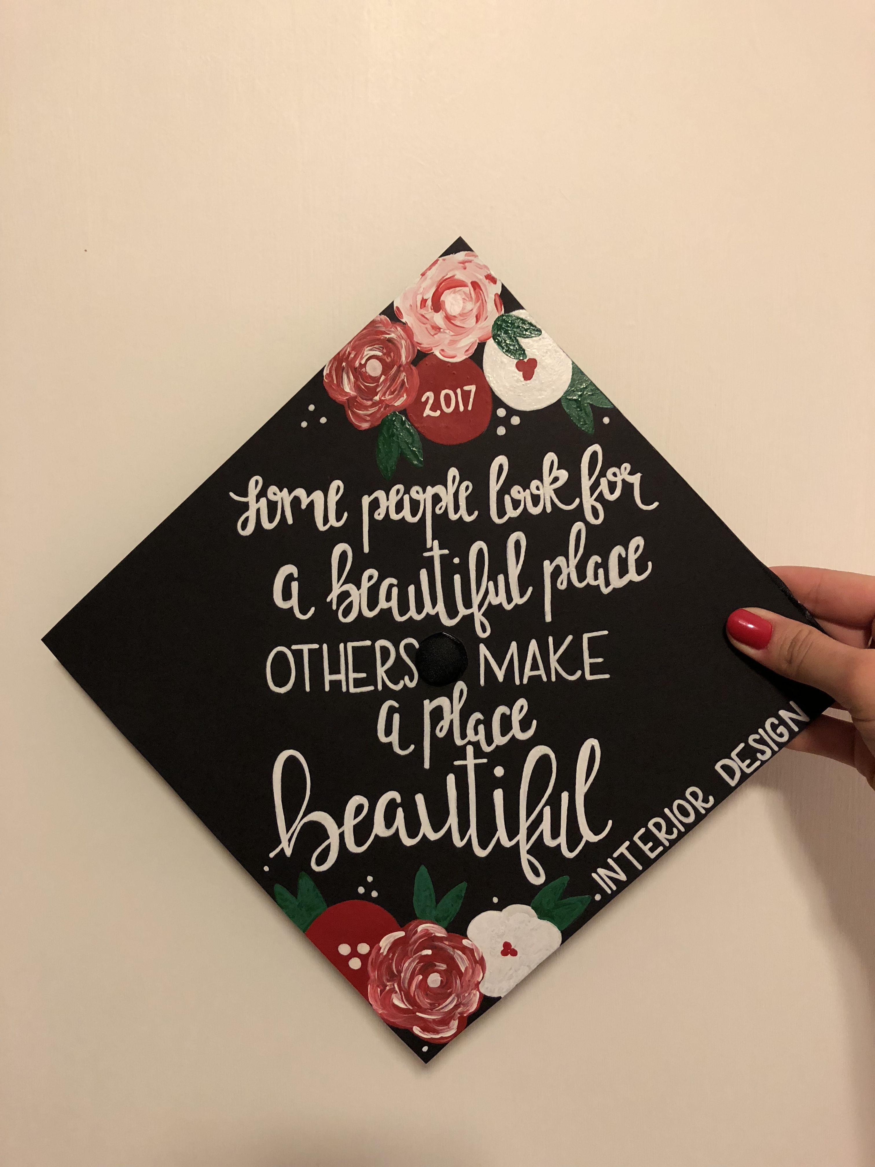 Interior Design Graduation Cap DIY Pinterest Cap Grad Cap And