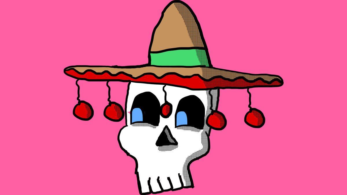 Sombrero Skull T Shirt]  #skulls #cartoonskull #skulltees #funnyskulls #sombreroskulls #skull