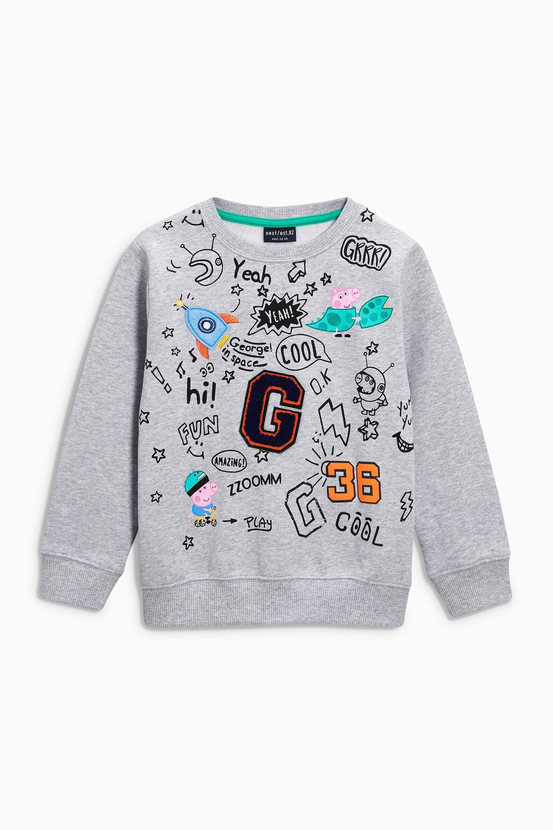 a149901aa Buy Grey Peppa Pig™ Badged Crew (3mths-6yrs) from the Next UK online shop