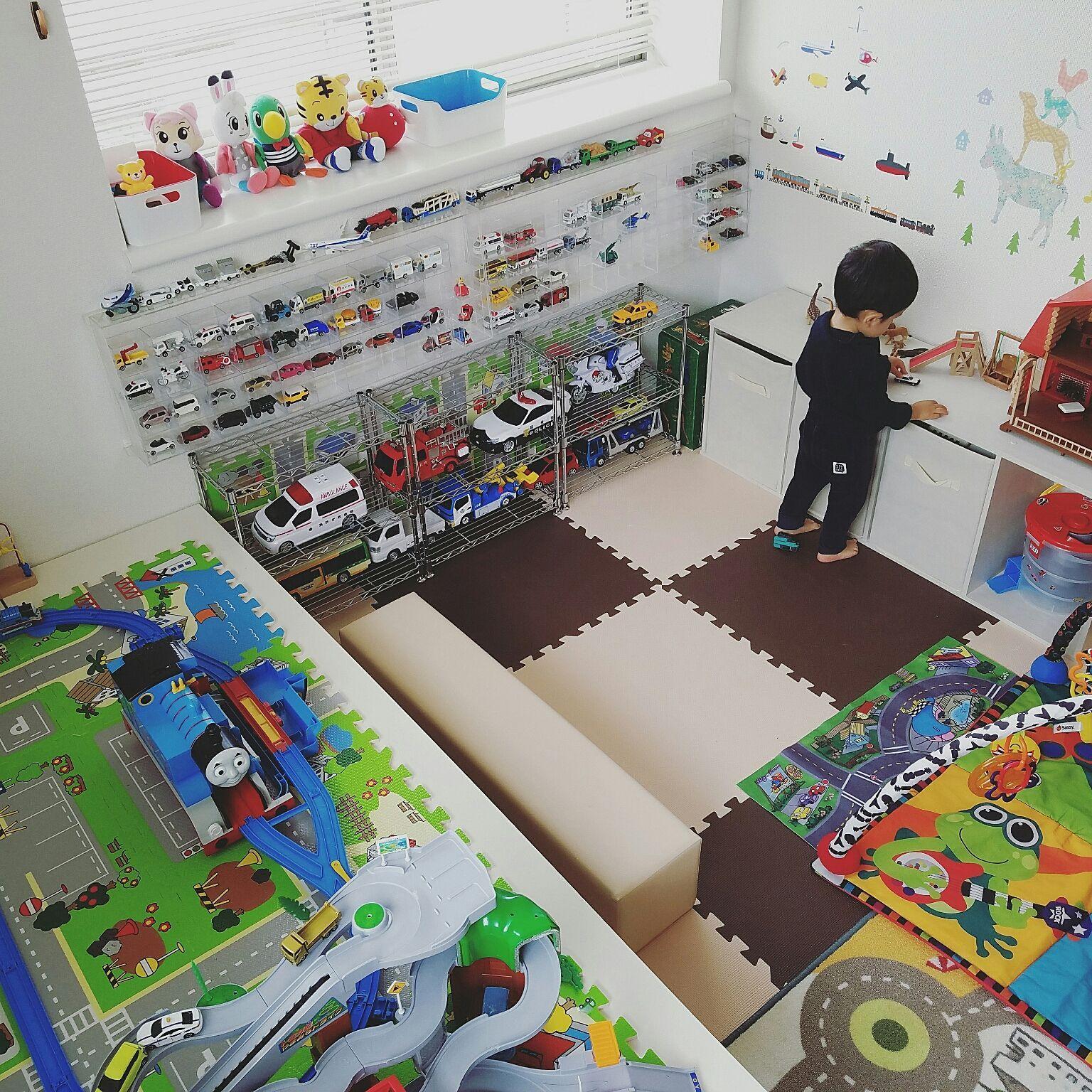 部屋全体 トミカ収納 トミカ収納 ディスプレイ トミカ棚 プラレール