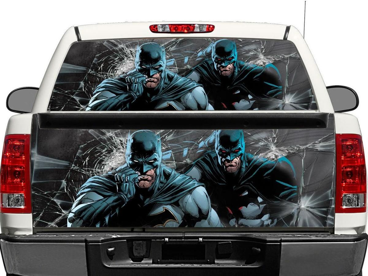 Joker face rear window graphics Decal Sticker perforated Truck Suv Car