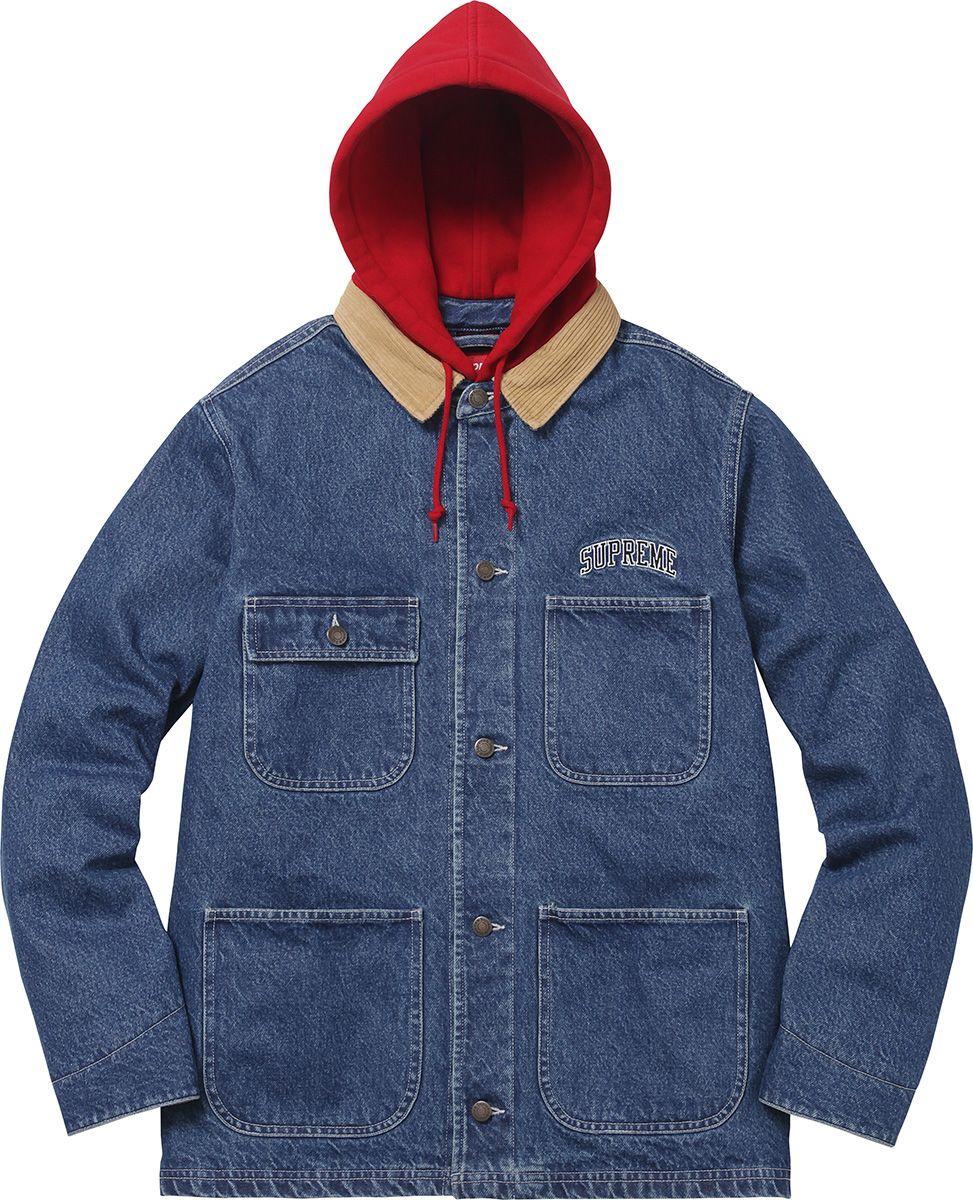 d768a39896d Supreme Hooded Chore Coat