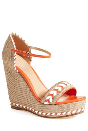 cdca9d1ce gorgeous vibrant orange Gucci wedges | Orange | Shoes, Sandals ...