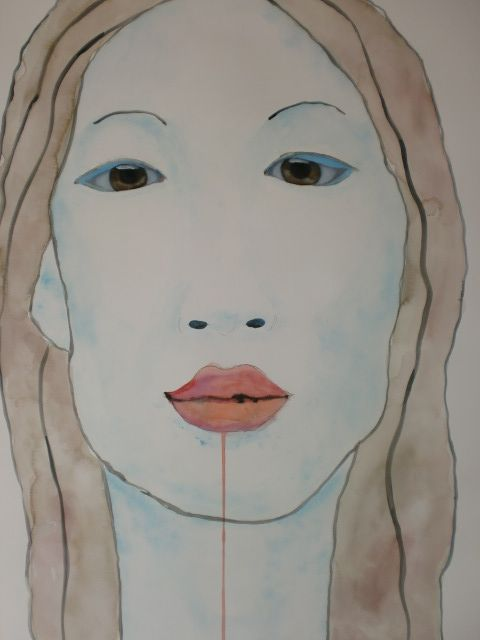 Portrair China, 50x70cm aquarel/watercolor by tanja kooymans