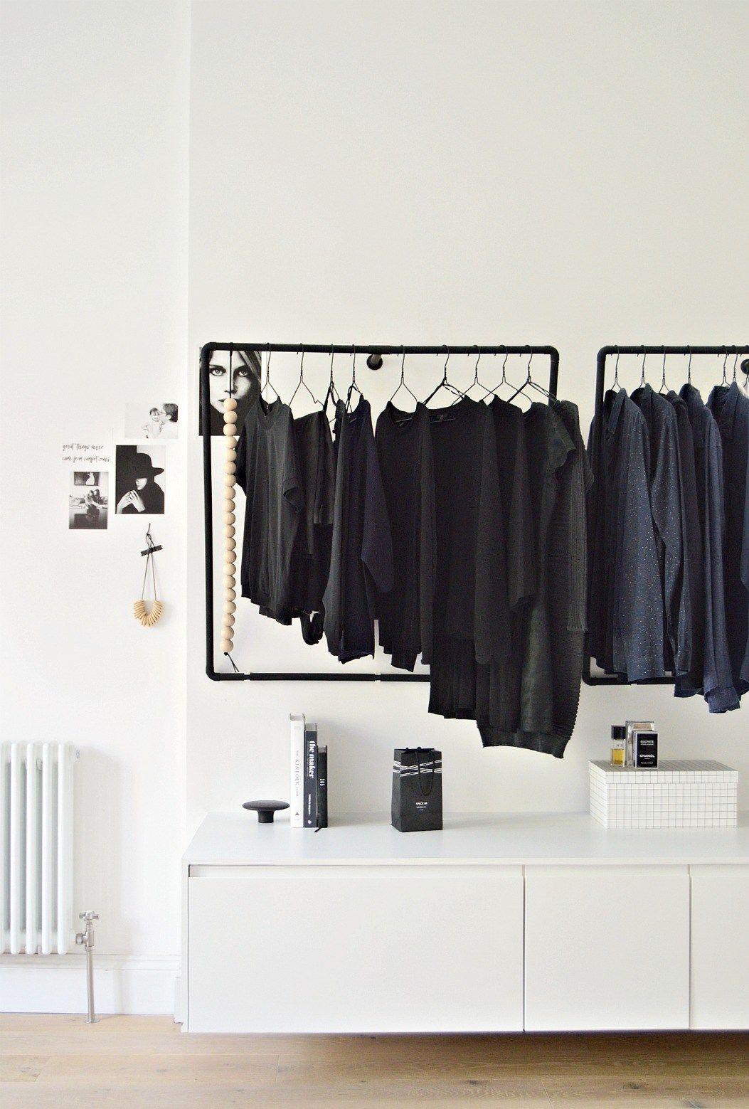A Minimal Open Wardrobe Diy For Your Bedroom Open Wardrobe Diy