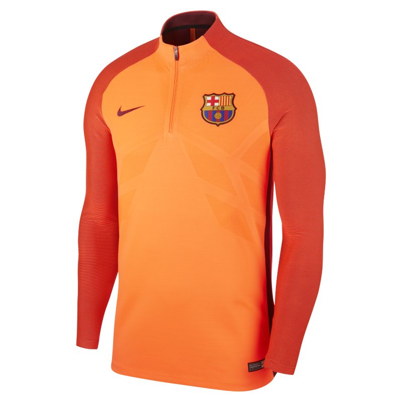 e8b6dde5566 FC Barcelona AeroSwift Strike Drill Men s Football Top - Orange ...