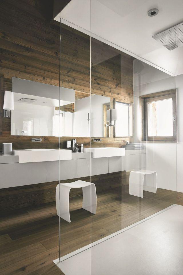 Salle de bains  créer une ambiance bien-être, façon sauna - creer une maison en 3d