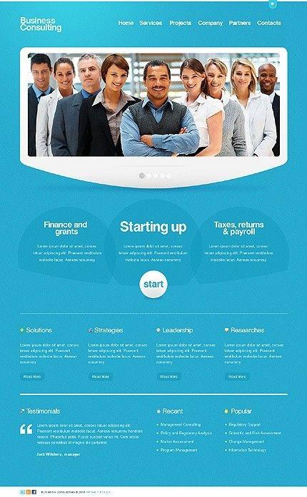 Blue #Web #Design